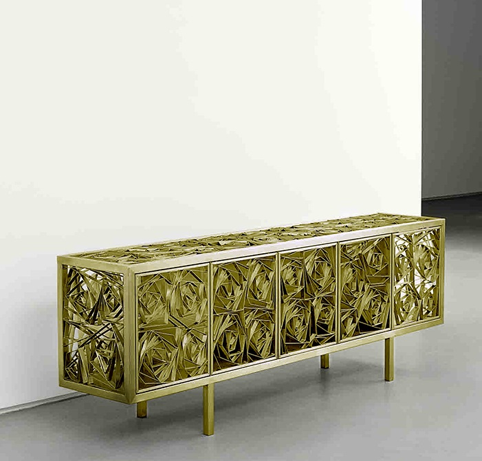 Campana Brothers, Fitas Buffet, 2012, Brass 78.74 x 15.75 x 27.56 inches Edition of 8