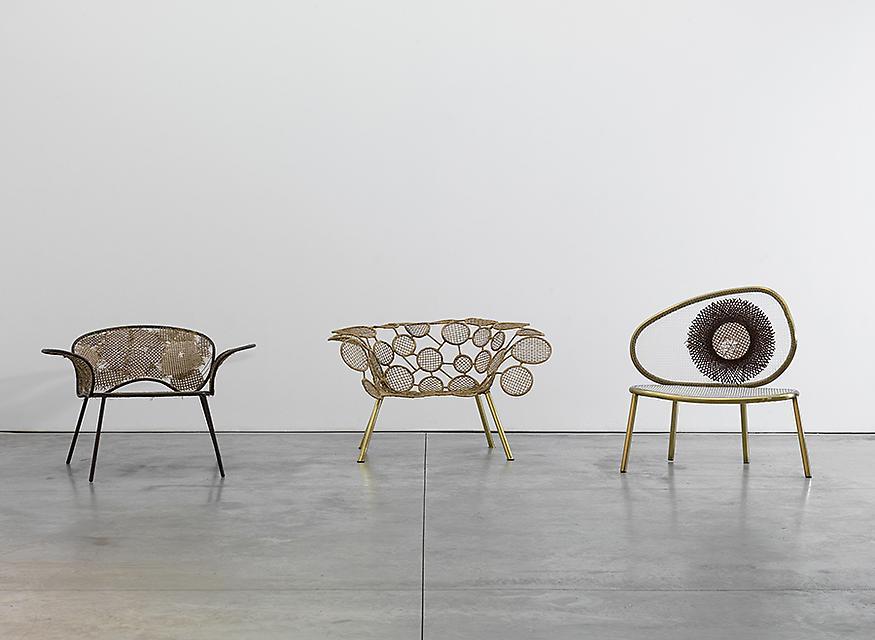 L to R:  Detonado Chair, 2013 Racket Chair (circles), 2013 Racket Chair (Tennis), 2013