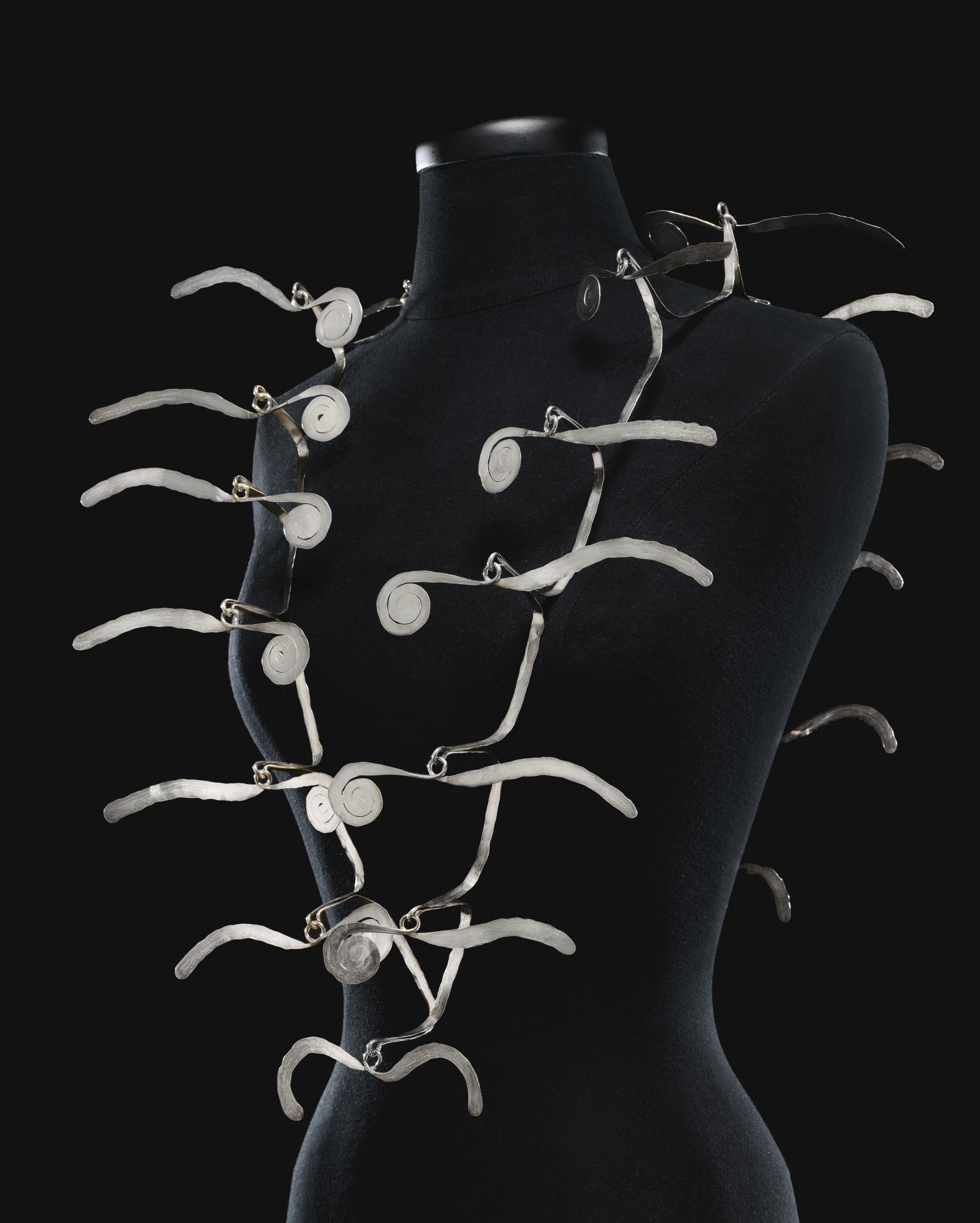 Lot 101, Alexander Calder, Silver Necklace, ca. 1940,  Estimate $400,000 – 600,000